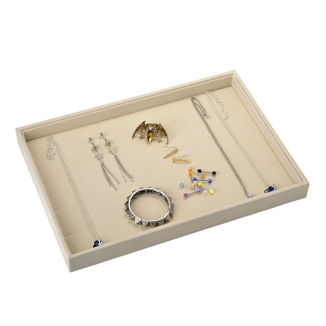 JOVIVI Retail Portable Jewelry Store Case Velvet Jewelry Display