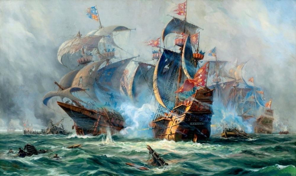 online buy wholesale sea battle paintings from china sea