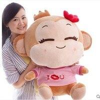big lovely plush monkey toy pink girl monkey doll happy monkey toys gift doll about 70cm 0124