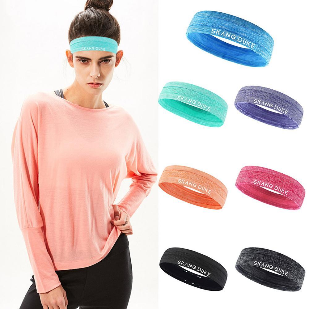 ①  7 Цвет Унисекс Спорт Оголовье Sweatband С Anti-Slip Оголовье Yoga Hair Band Женщины Мужчины Yoga Бег ✔
