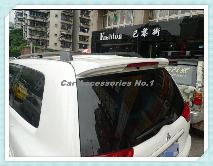 ABS PRIMER CAR REAR TRUNK LID AERO WING SPOILER FOR Mitsubishi Pajero Sport 2010 2011 2012 2013 2014 2015 BY EMS (With Lamp) car rear trunk security shield shade cargo cover for nissan qashqai 2008 2009 2010 2011 2012 2013 black beige