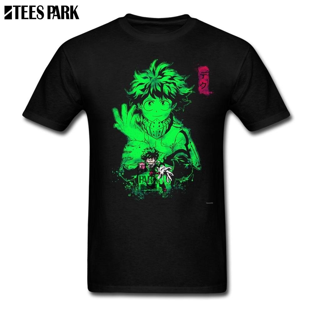Slim Fit My Hero Academia Deku Cotton T Shirts Adult Pre-Cotton Short Sleeve Tshirs Promotion Youth Lightest T Shirt Fashion