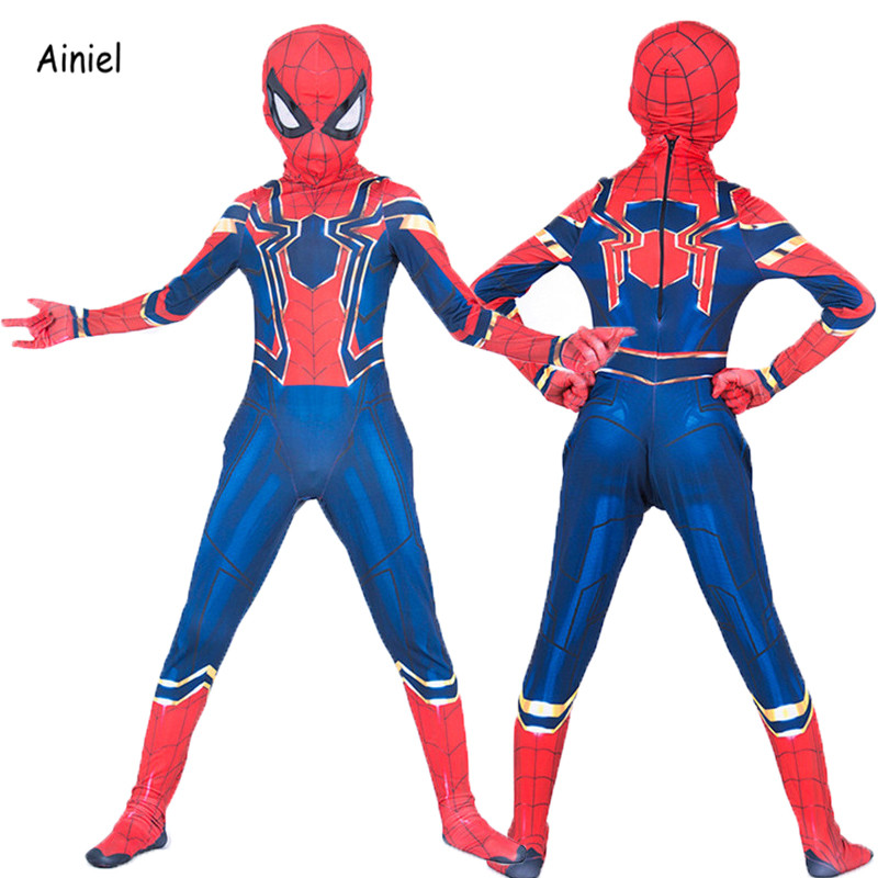 Movie iron spider man cosplay costume mask suit adult - Masque iron man adulte ...