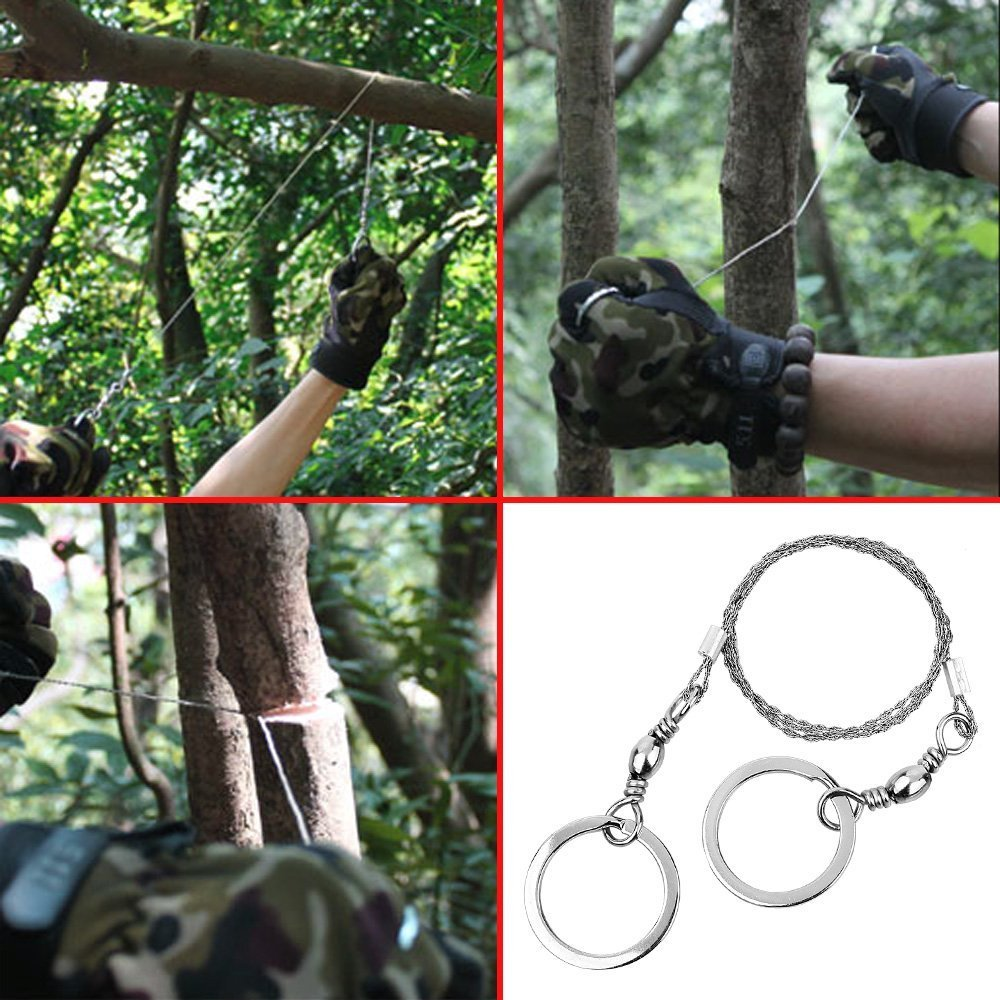 530mm(20.9\'\') Emergent Survival Wire Saw Camp Hike Outdoor Hunt Fish ...