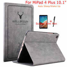 iBuyiWin Case For Xiaomi Mi Pad 4 10 Plus Magnetic Smart PU Leather Cover for MiPad 10.1 inch Tablet+Free Film+Pen