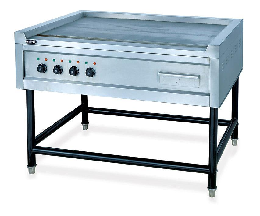 Stainless Steel Free Standing Restaurant Hotel Flat Eletric Griddle Food Frying Machine Catering Equipment