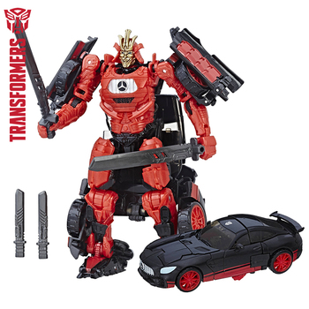 10 cm Transformation 5 KNIGHT PREMIER EDITION DELUXE Action Anime Figures TITAN Collectible Model Toys for children transformers toys the last knight premier edition steelbane deluxe dinobot slug autobot sqweeks action figures collection model