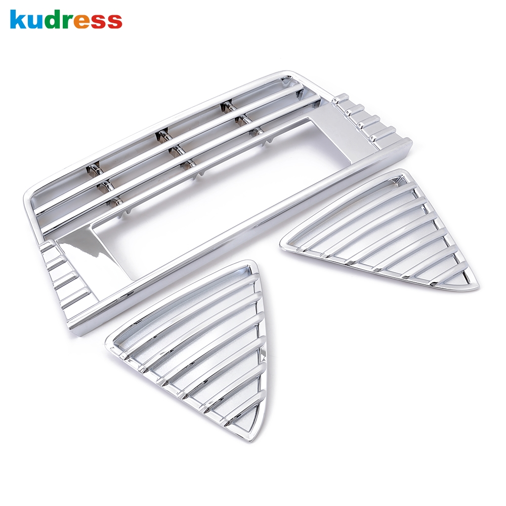 For Ford Focus 3 2012-2015 ABS Chrome Material Racing Grills Idecoration Intake Grille Cover Auto Car 3pcs/set abs chrome front grille around trim for ford s max smax 2007 2010 2011 2012