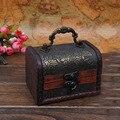 Vintage wood box,Metal Lock Jewelry Treasure Chest Case Manual Wood Box storage box Vintage  storage jewelry box free shipping