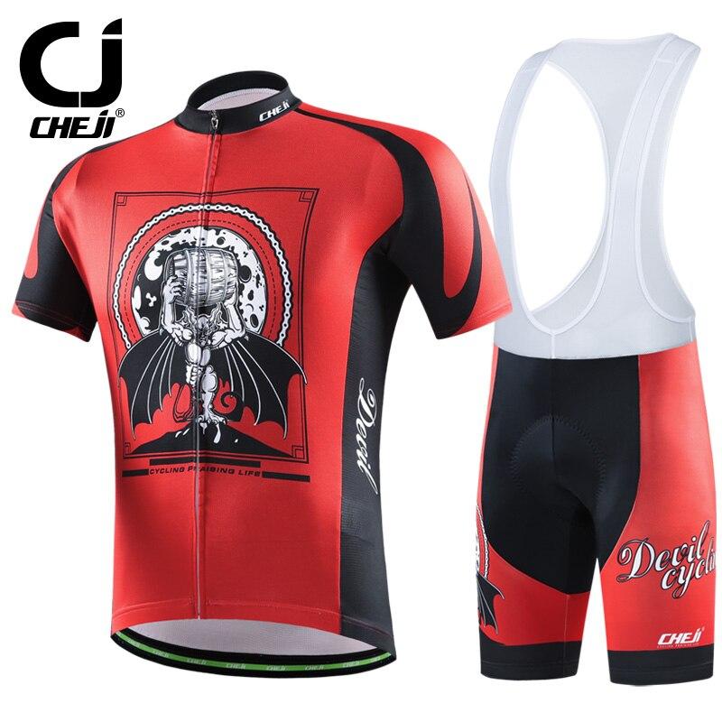 34851f7e67 Cheji men s suit cycling set cyclingwear men 2017 conjunto ciclismo  masculino ropa ciclismo hombre cycling jersey bib shorts-in Cycling Sets  from Sports ...