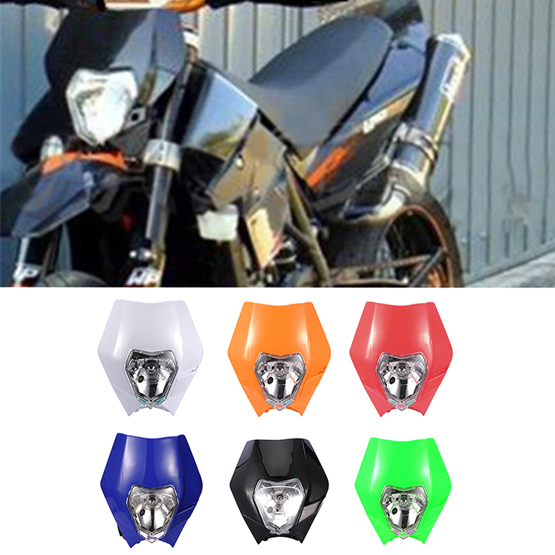 6 color Motorcycle Dirt Bike Motocross Supermoto Universal Headlight - Car Lights