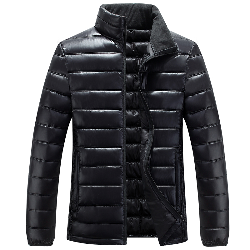 2019 Winter New Casual Plus Size   Parka   Men Stand Collar Waterproof Jaket Men Winter