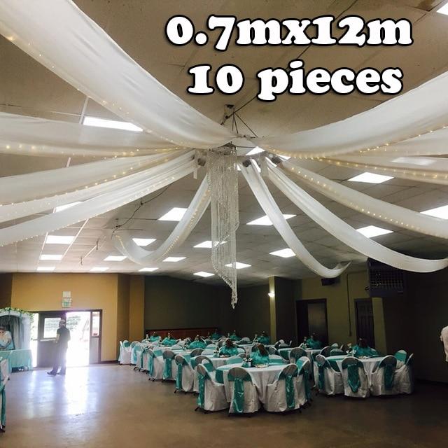 0,7 м x 12 м свадебные туфли на плоской подошве драпировка для потолка вечерние Декор Свадебный потолок навеса украшения идея мероприятие отел...