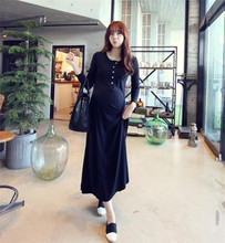 2016 Korean Spring Autumn Maternity Long Sleeved Dress Maternity Clothes For Pregnant Women Dress Pregnancy Dress Nursing Skirt