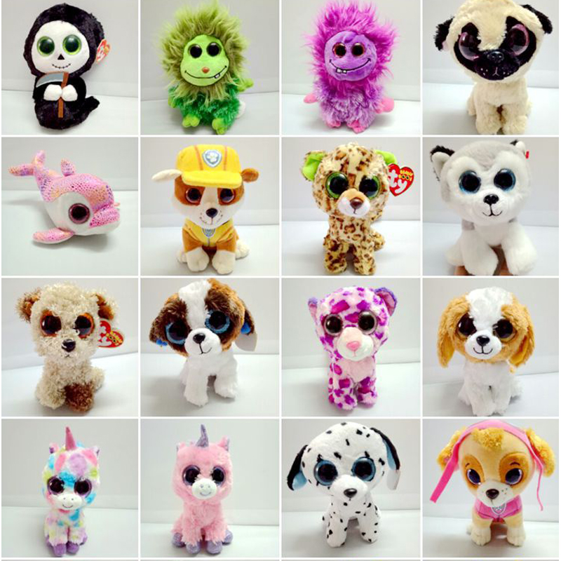 New Arrival TY Beanie Boos Big Eyes Kaola Plush Toy Doll Kawaii TY Original Stuffed Animals for Children's Christmas Gifts Toys 1pc18cm hot sale ty beanie boos big eyes husky dog plush toy doll stuffed animal cute plush toy kids toy birthday gift