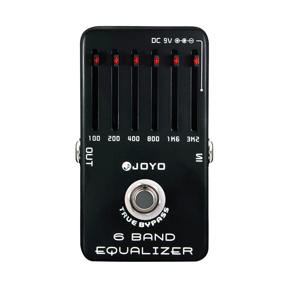 JOYO JF-11 6 Band Equalizer Electric Guitar SIX Bands EQ Effects Pedal Adjust Low Middle High Frequency True Bypass joyo eq 307 folk guitarra 5 band eq acoutsic guitar equalizer high sensibility presence adjustable with phase effect and tuner