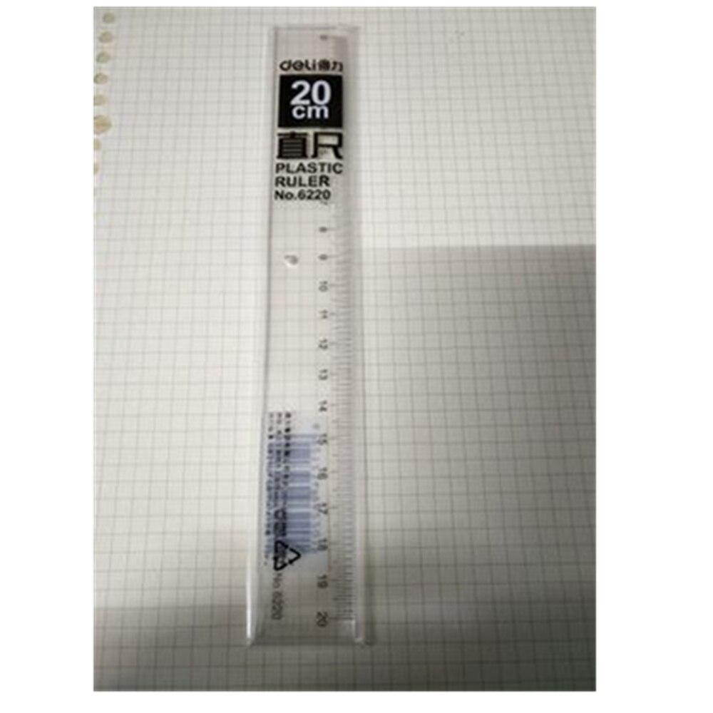 1pcs Plastic Length Measuring Tool Straight Ruler For School 20cm 30cm 40cm