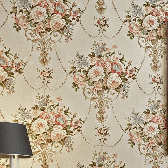 3d Papel de Parede Retro Vintage American Style Rustic Flower wallpaper Roll for Bedroom 3D Wall paper Wallcoverings Home Decor 3d bookshelf wallpaper rolls for study room of american vintage chinese style background 3d wall paper papel de parede