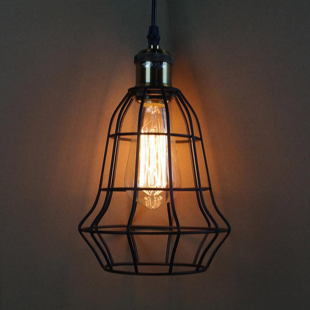 Jahrgang Industrielle Loft Drahtkäfig Hängeleuchte Beleuchtung E27 ...