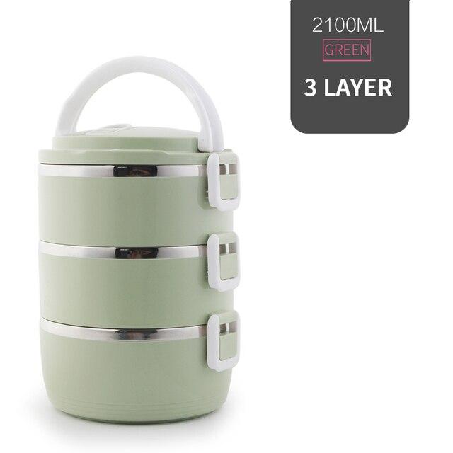 3 Layer Green Cheap bento boxes 5c6479e2ef006