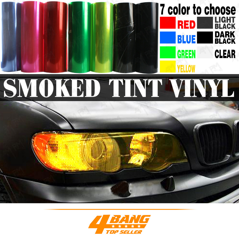 Universal 7-Color Various Sizes 12x16~72Car-Styling Decoration Light Headlight Taillight Fog Light Tint Vinyl Film Stickers