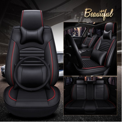 Full Set Car Seat Covers Steering Wheel Cover For Toyota Camry 2017 Comfortable Free Shipping