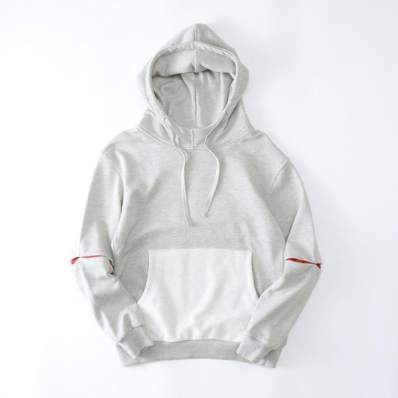 H.A. Sueno Hoodies Men 2018 hip hop Male Long Sleeve Solid Color Hooded Sweatshirt Mens Hoodie Tracksuit Sweat Coat Casual