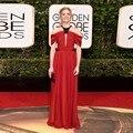 Vestido Longo Sexy Red Carpet Black Beaded Celebrity Dress Robe De Soiree 2016 Golden Globe Awards Red Carpet Dresses Vestidos