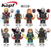 Avengers 4 Endgame Super Heroes War Machine Iron Man Nebulosa Thor Capitan Marvel Figure Giocattoli Compatibile con Lego(China)