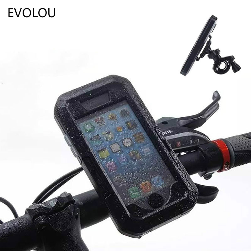 Motorcycle Bicycle Phone Holder Bag For Iphone X XS Max 8 7 6 Plus 5 Waterproof Case Mobile Support Bike Handlebar Holder Stand