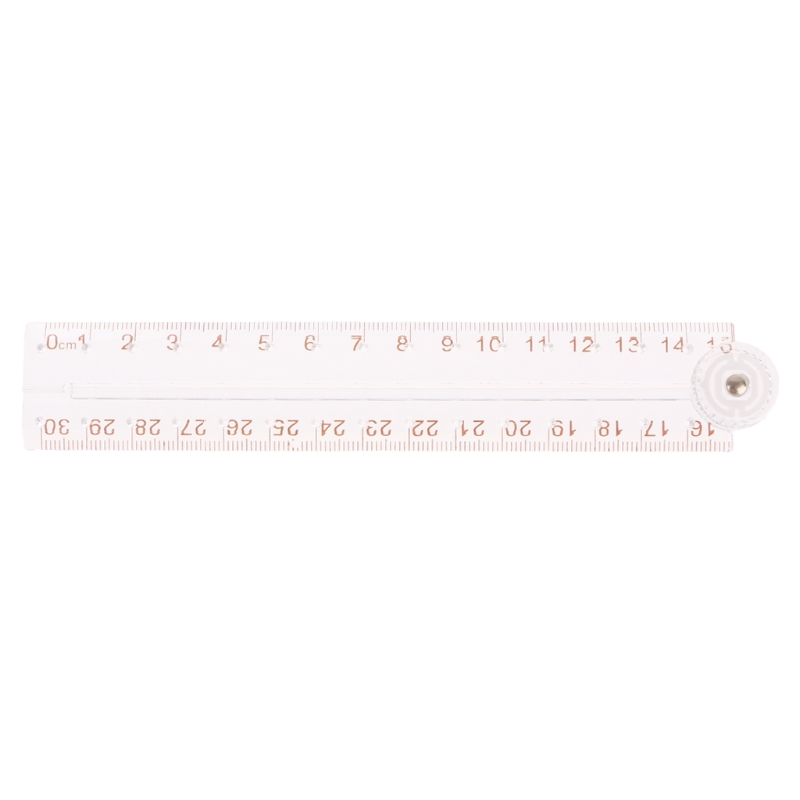1 Set Clear Acrylic Folding Straight Ruler Drawing Student Stationery School Supplies New