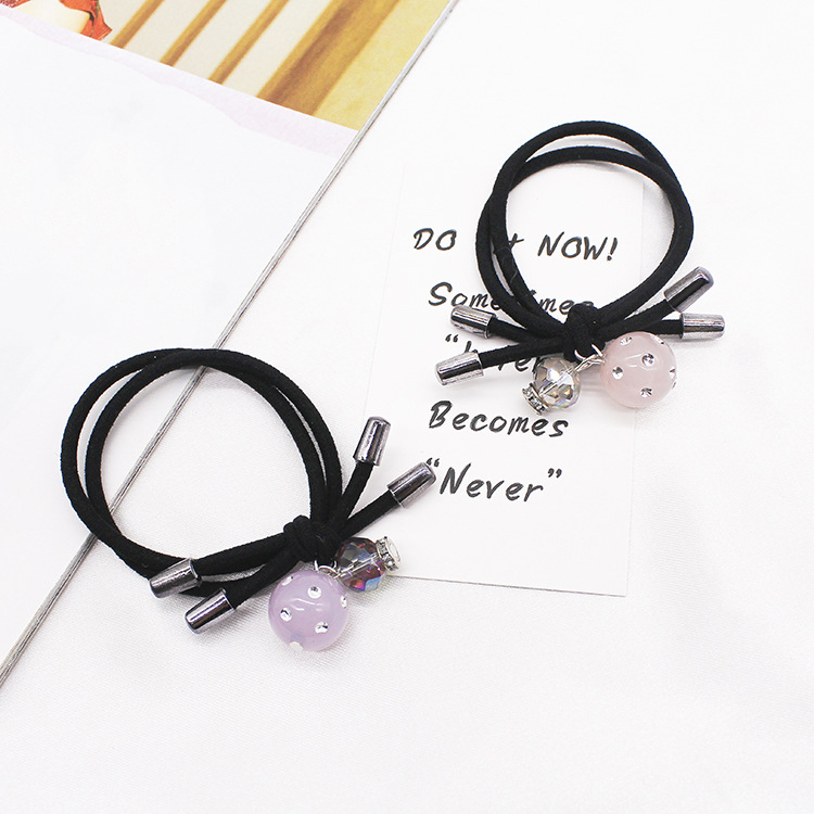 Apparel Accessories 1pcs Lovely Flower Gray Ball Elastic Hair Bands Toys For Girls Handmade Bow Headband Scrunchy Kids Hair Accessories For Womens Beautiful And Charming