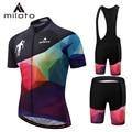 MILOTO Wielertrui Set Pad Ropa Ciclismo Mannen Zomer Korte Mouw Fiets Jersey Bib Suits Rijden Doek Breather PRO Fiets dragen
