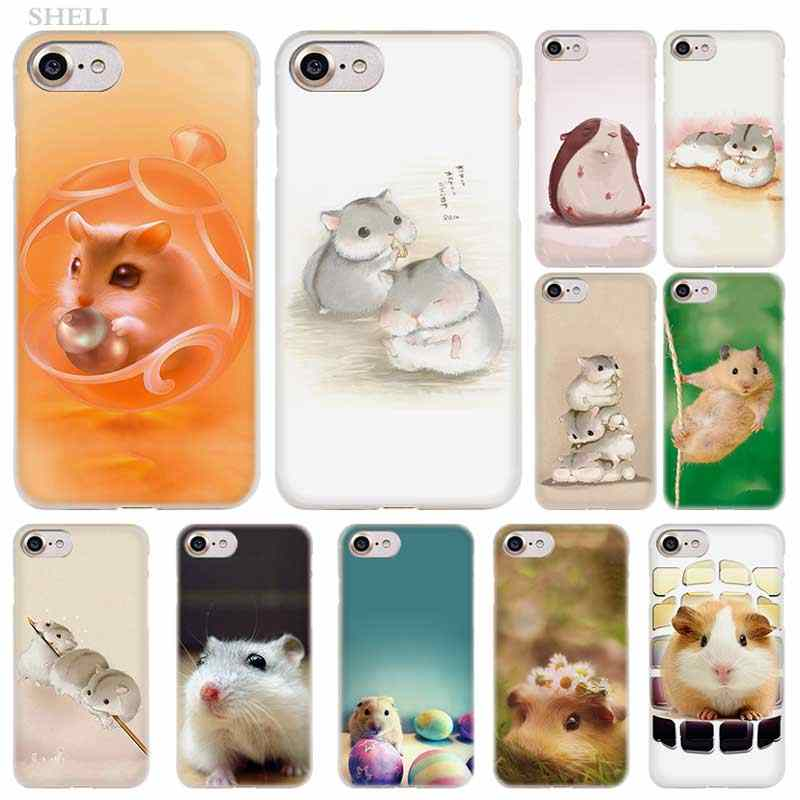 Pluslovely Hamster Fashion Transparan Penutup Case untuk iPhone Xi R 2019 X Max XR X 4 S 5 5 S SE 6 6 S 7 7 Plus