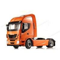 Редкие 1:12 Масштаб Iveco Stralis привет Way тяжелый грузовик с прицепом игрушки модели автомобиля хобби Коллекция высокое качество