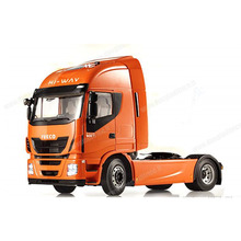 hot deal buy rare 1:12 scale iveco stralis hi-way heavy truck trailer models car toys hobbies collection high quality