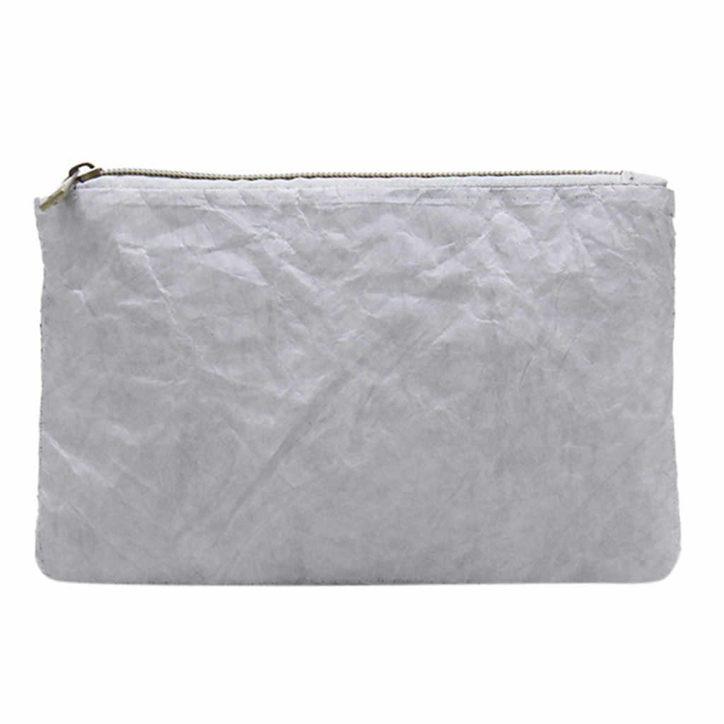 MUQGEW נשים של אופנה עמיד למים טלפון נייד שקית מצמד תיק ארנק קוסמטי תיק קראפט נייר קוסמטי תיק מלבני מצמד