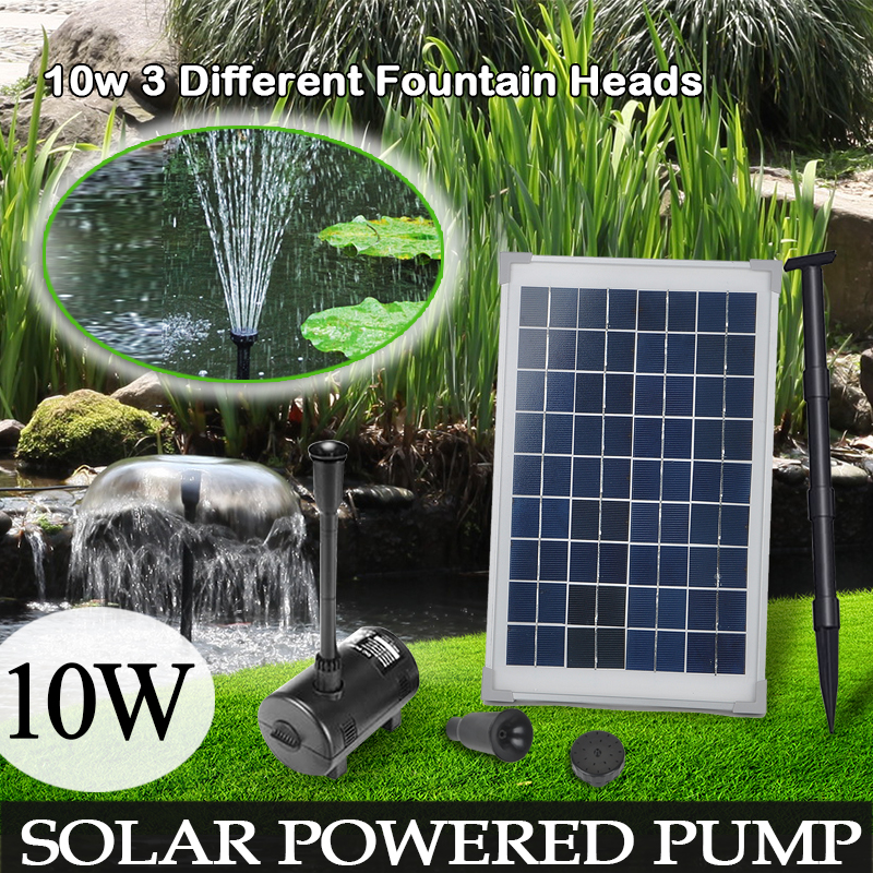 10W/20W/3.5W Solar Power pump watering kit Fountain Outdoor Pond Pool Submersible Water Feature Pump Kit MAYITR
