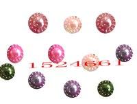 12mm r shape  Flatback beads for Scrapbook Decoration 48pcs/bag *crafts materials plastic chunky