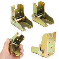New 2pcs Alloy Foldable Extension Table Leg Bracket Folding Self Lock Fittings For Furniture Accessories