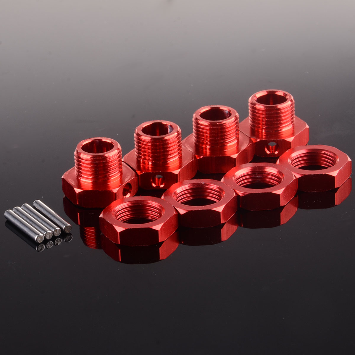 Car Wheel Hex Nuts Pin Replacement Accessories Spare 80122 RC 17mm 1//8 81212