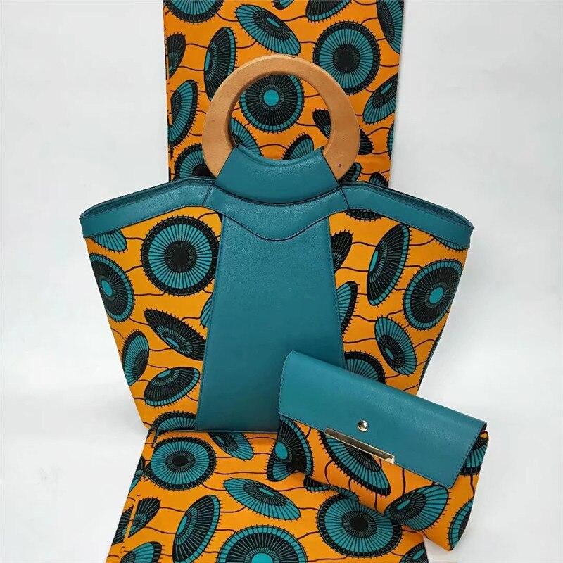 Borse per le donne borsa di alta qualità sacchetto di cera africano set partita Ankara tessuto della stampa della cera africano per i vestiti delle donne 6 yard/lot ybg11