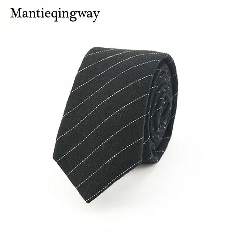 Mantieqingway Merk Plaid en Gestreepte Mannen Mager Stropdassen Mode - Kledingaccessoires - Foto 2