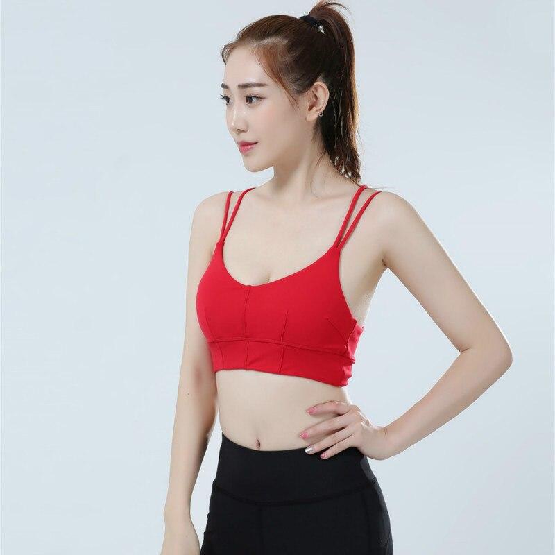 Colorvalue Strappy Sports Bra Women Comfortable Wireless Dance Yoga Bra Sexy V-Collar Fitness Bra Top Plus Size Activewear 4