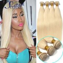 613 Blonde Virgin Hair 4Pc Lot 100g/pc Unprocessed Platinum Blonde Virgin Hair 100% Cheap Brazilian Human Hair Weave Bundles