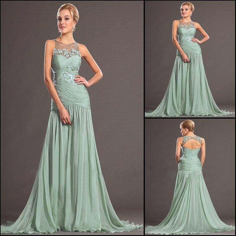 2014 New Arrvial Arabic Designer Brand Green Long Sexy Strapless ...
