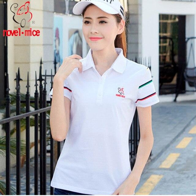 Ruoru M-6xl Plus Size Summer Polo Shirt Women Embroidery Women Polos  Business&leisure Slimming Cotton