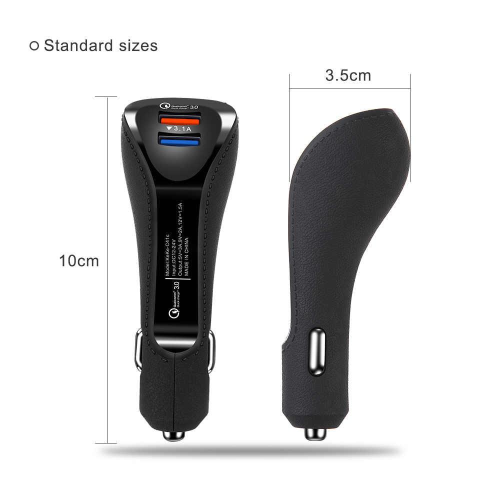 Suhach QC 3.0 רכב מטען מהיר תשלום טלפון נייד מטען USB הכפול עבור Huawei Xiaomi סמסונג 2 יציאת USB מהיר רכב מטען