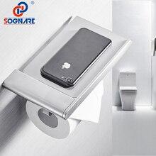 SOGNARE 304 нержавеющая сталь держатель для туалетной бумаги с полкой для телефона туалетная бумага настенный держатель для туалетной бумаги аксессуары для ванной комнаты