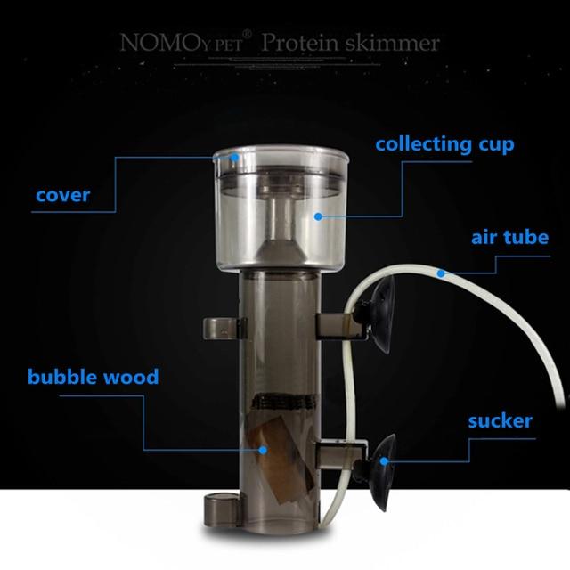 Skimmer de proteína de fabricante de burbujas de madera para menos de 45/70 gal acuario marino necesita conducir por bomba de aire